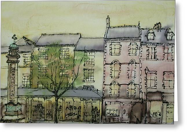 Hexham Market Place Northumberland  England Greeting Card