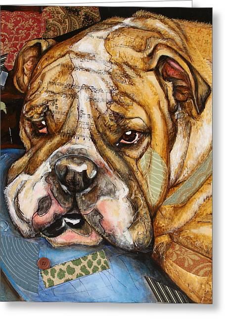 Hey Bulldog Greeting Card
