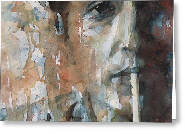 Hey Mr Tambourine Man Greeting Card by Paul Lovering