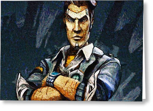 Hey Vault Hunter Handsome Jack Here Greeting Card