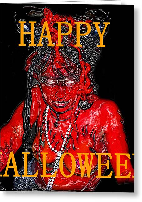 Hh She Devil Work A Greeting Card by David Lee Thompson