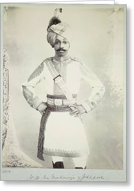 Hh The Maharaja Of Jodhpore Greeting Card by British Library