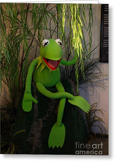 Hi Ho  Kermit The Frog Here  Greeting Card