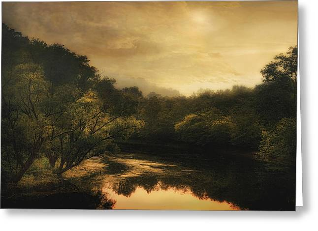 Hiawassee River At Dawn Greeting Card by William Schmid