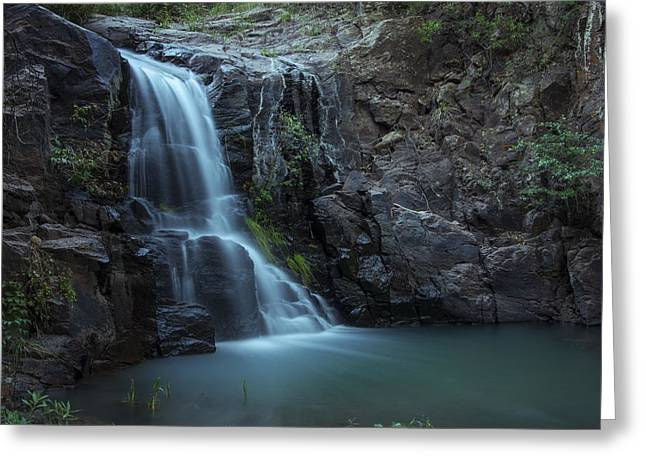 Hiawatha Falls Greeting Card by Aaron Bedell