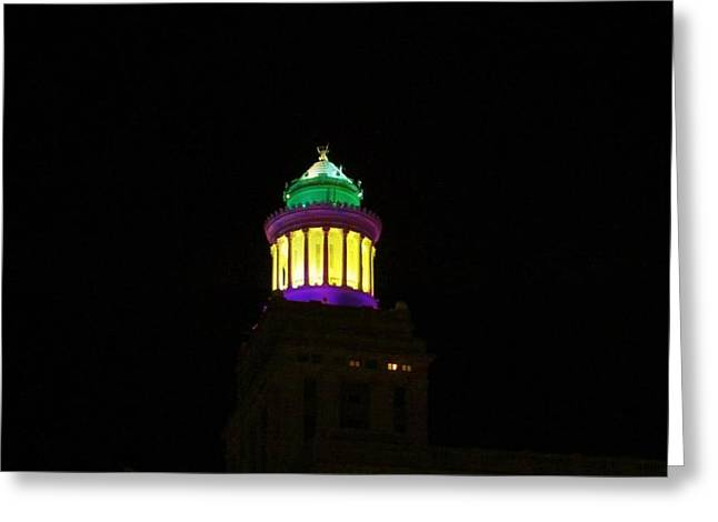 Hibernia Tower - Mardi Gras Greeting Card