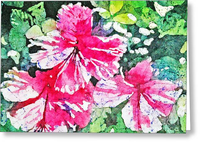 Hibiscus In The Sun Greeting Card