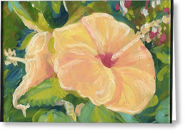 Hibiscus Greeting Card by Jo-Anna Pippen