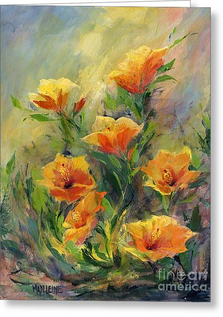 Hibiscus Greeting Card by Madeleine Holzberg