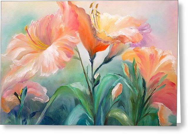 Hibiscus Greeting Card by Marina Wirtz