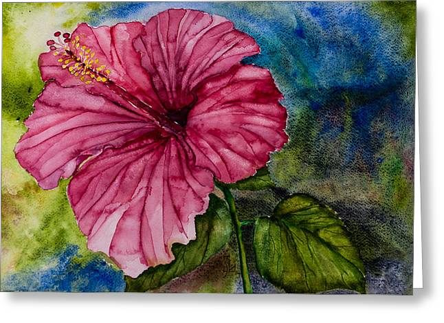 Hibiscus Study Greeting Card