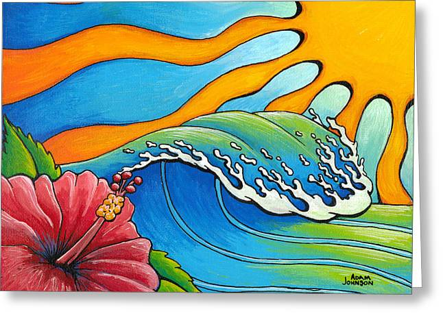 Hibiscus Wave Greeting Card