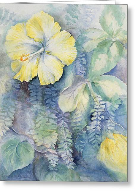 Hibiscus, Yellow Greeting Card
