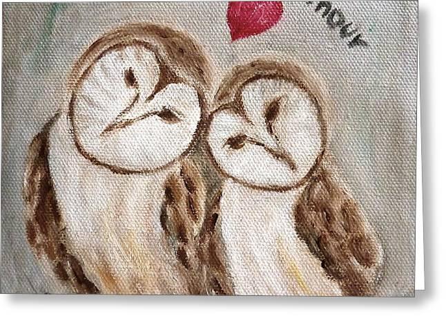 Hiboux Dans L'amour Greeting Card