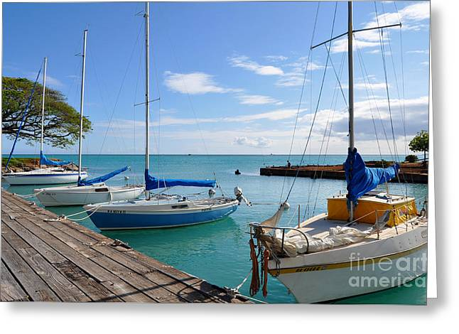 Greeting Card featuring the photograph Hickam Harbor by Gina Savage
