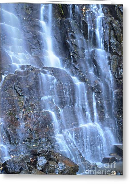 Hickory Nut Falls Chimney Rock State Park Nc Greeting Card by Dustin K Ryan