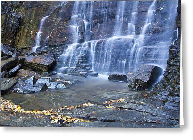 Hickory Nut Falls In Chimney Rock State Park Greeting Card