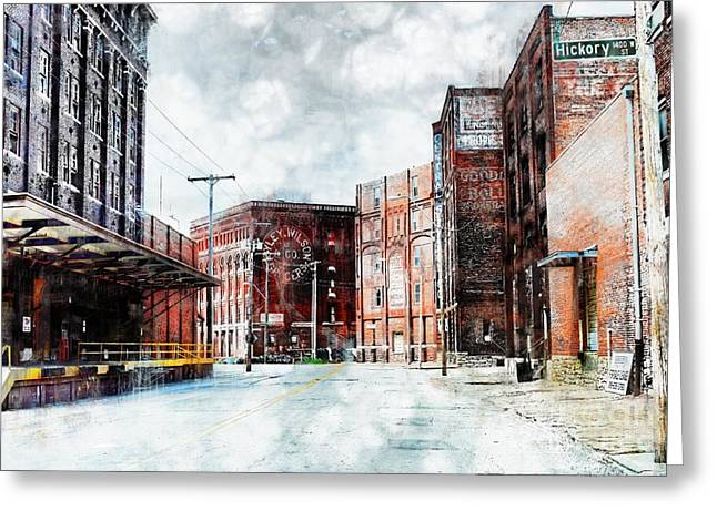 Hickory - Urban Building Row Greeting Card by Liane Wright