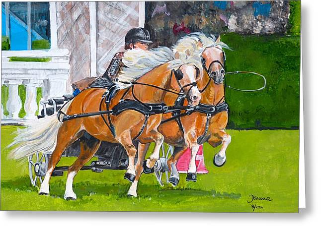 Hickstead  Greeting Card by Janina  Suuronen