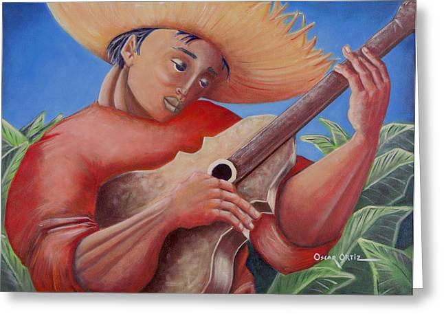 Hidalgo Campesino Greeting Card by Oscar Ortiz