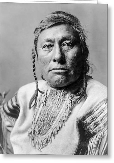 Hidatsa Indian Man Circa 1908 Greeting Card