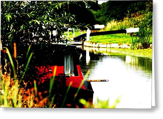 Hidden Barge Greeting Card by David Wood