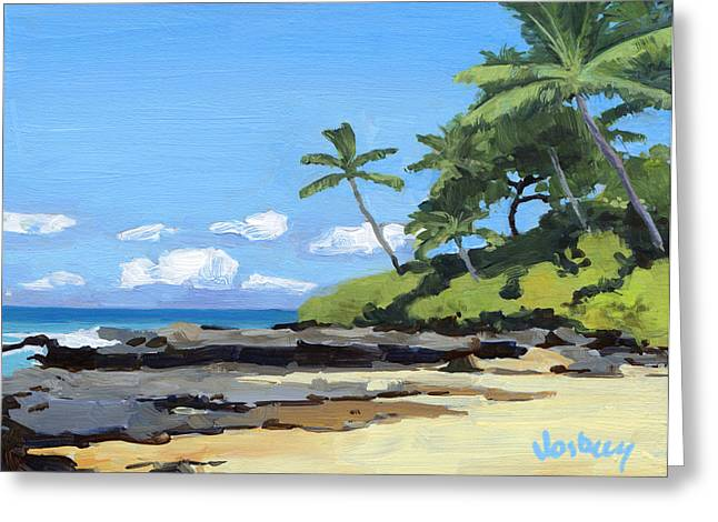 Hidden Beach Makena Greeting Card by Stacy Vosberg