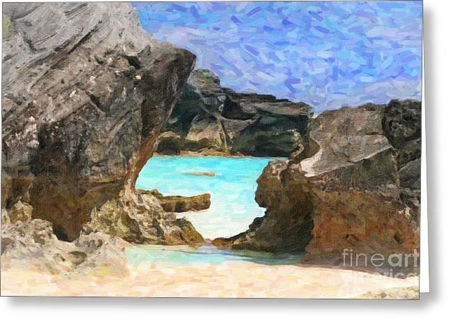 Greeting Card featuring the photograph Hidden Beach by Verena Matthew