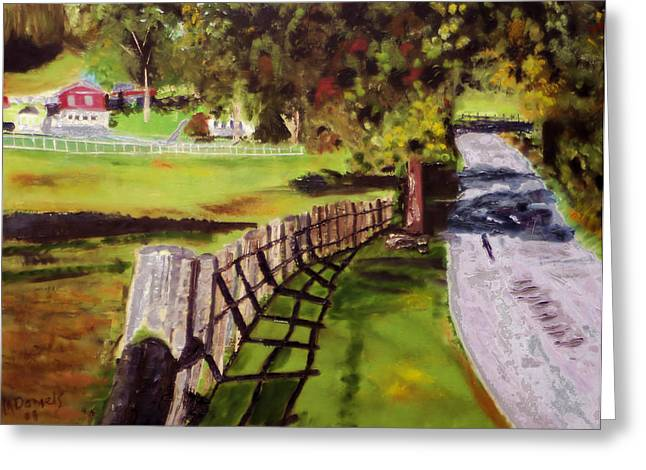 Hidden Brook Farm Greeting Card by Michael Daniels