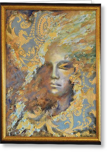 Hidden Face By Mihaela Ghit Greeting Card by Mihaela Ghit