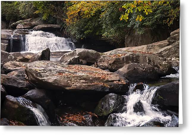 Hidden Fall On The Horse Pasture River 2 Greeting Card