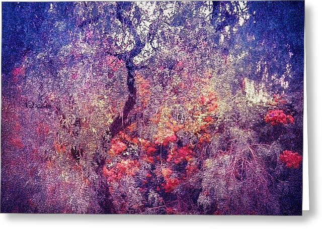Hidden Garden Of Desire Greeting Card by Jenny Rainbow