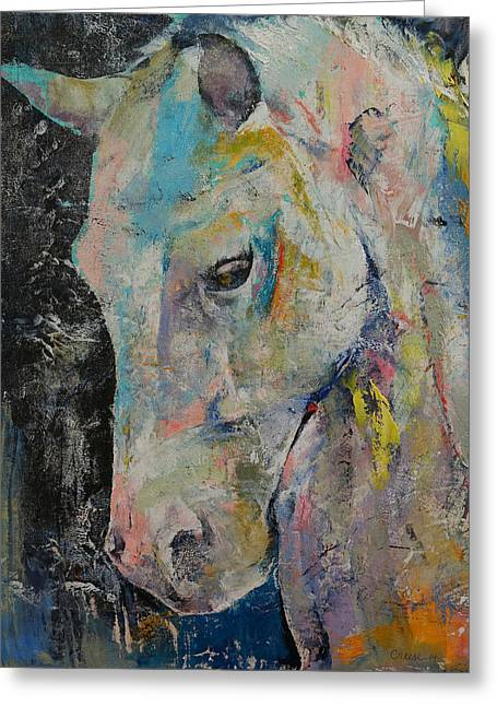 Hidden Heart Horse Greeting Card by Michael Creese