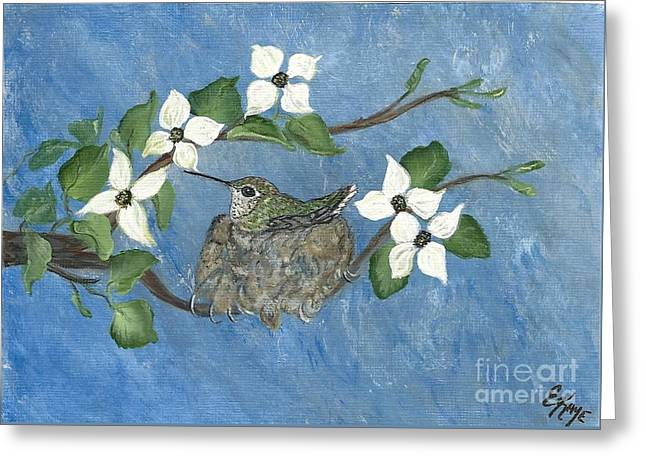Greeting Card featuring the painting Hidden Jewel by Ella Kaye Dickey