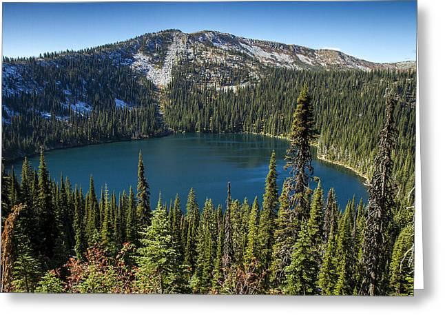 Hidden Lake In Idaho Greeting Card
