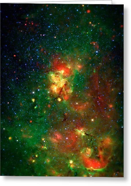Hidden Nebula 2 Greeting Card by Jennifer Rondinelli Reilly - Fine Art Photography