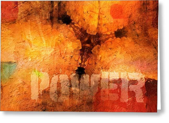 Hidden Power Artwork Greeting Card by Lutz Baar