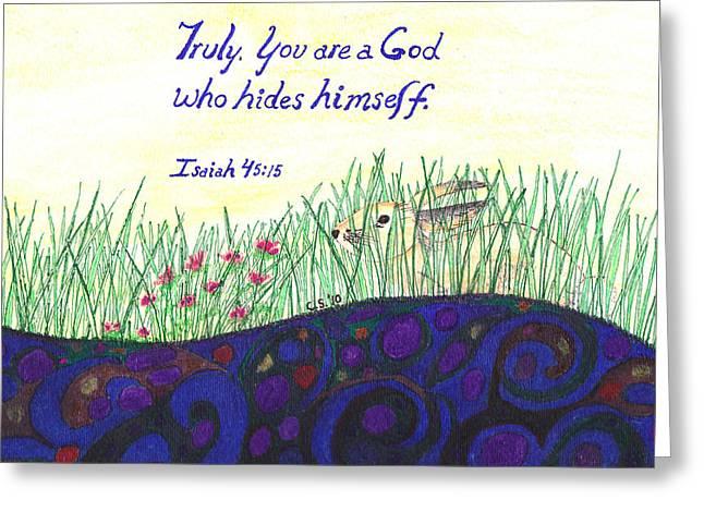 Hidden Treasure Greeting Card by Catherine Saldana