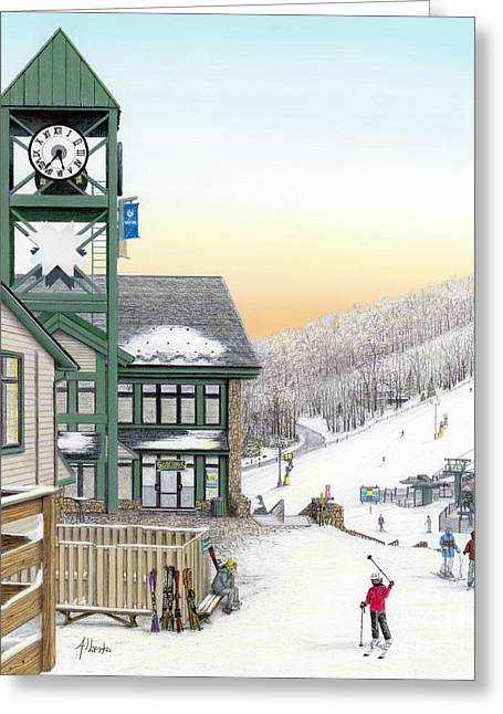 Hidden Valley Ski Resort Greeting Card by Albert Puskaric