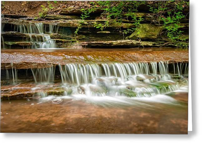 Hidden Waterfall Greeting Card by Jen Morrison