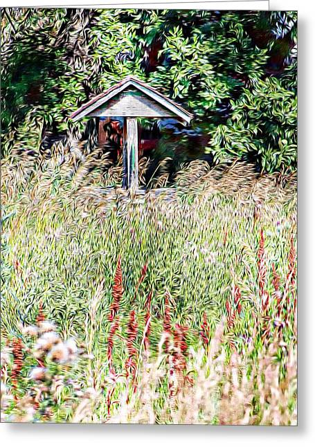 Hidden Wishing Well Greeting Card by Christy Patino