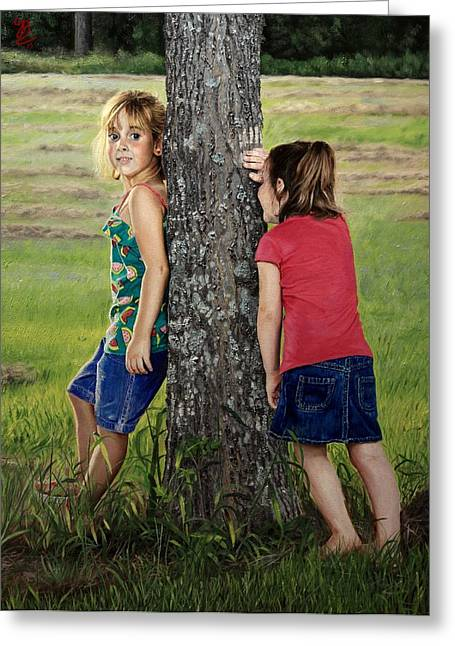 Hide And Seek Greeting Card