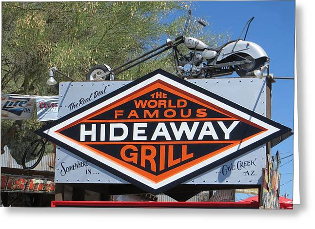 Cave Creek Hideaway Grill Greeting Card by Jim Romo