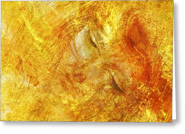 Hiding In Yellow Greeting Card by Gun Legler
