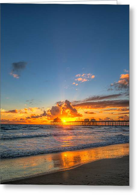 Hiding Sunset Greeting Card