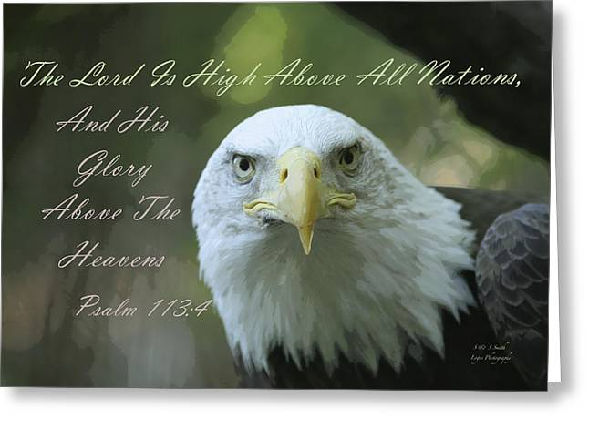 High Above All Nations Greeting Card