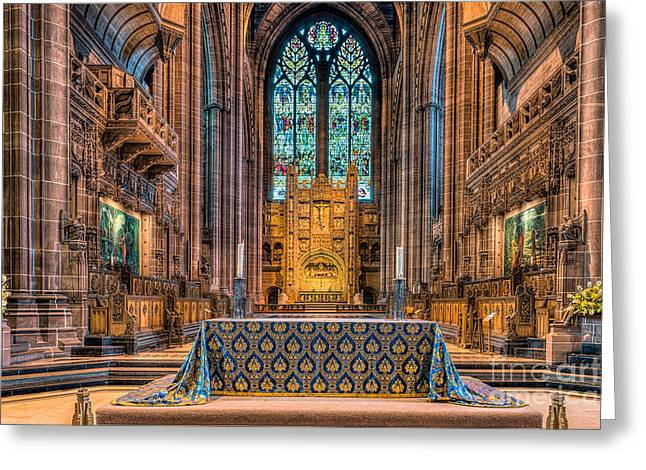 High Altar Greeting Card by Adrian Evans
