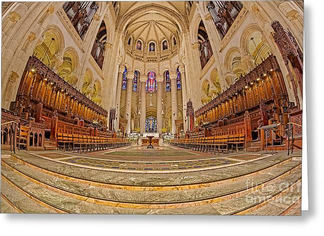High Altar At Saint John The Divine Cathedral  Greeting Card by Susan Candelario