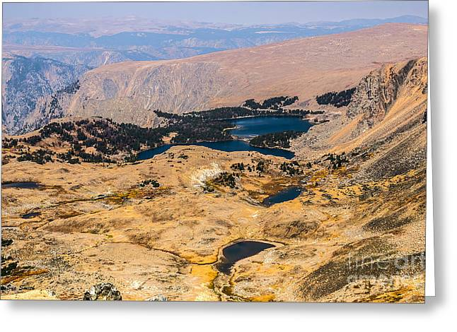 High Altitude Lakes Greeting Card by Sue Smith