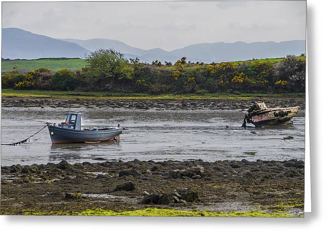 High And Dry At Low Tide On Irelands West Coast Greeting Card